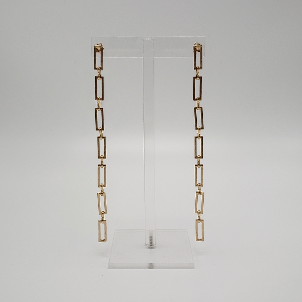 Rectangle Chain Link Earrings