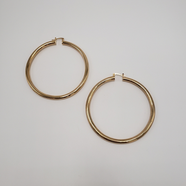 X Large Gold Hoop Earrings