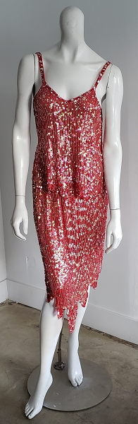 Vintage 80'S Beaded Sequin Silk Deco Skirt Top Set